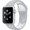 Apple Watch Nike+ 38mm [Flat Silver / White] Nike Sport Band MNRY2